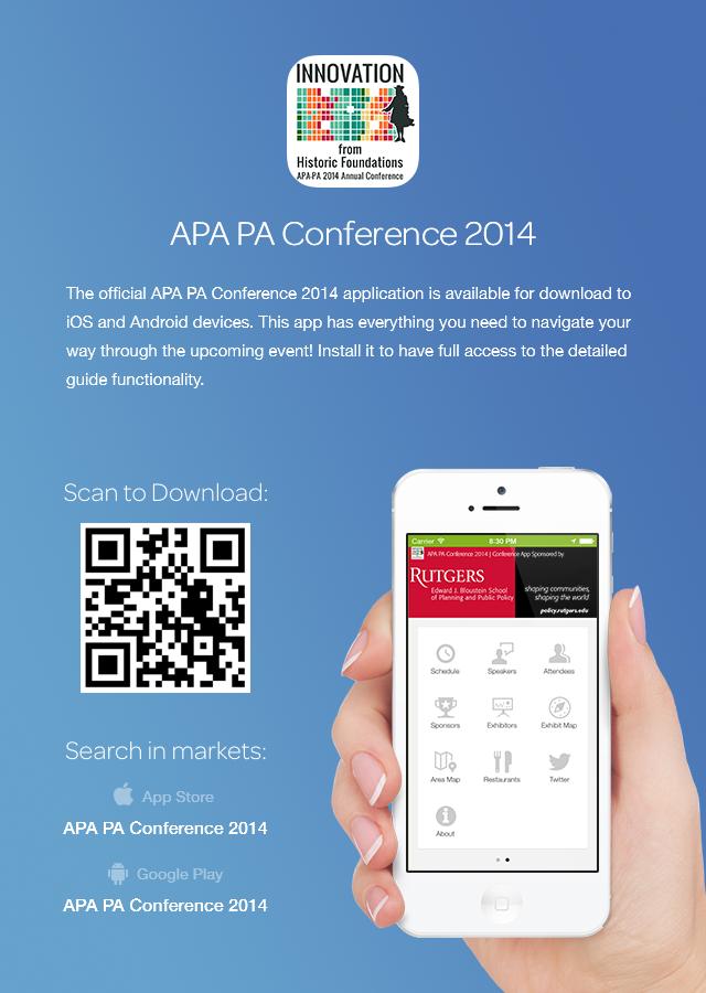 download the apapa 2014 conference app apa pa southeast section